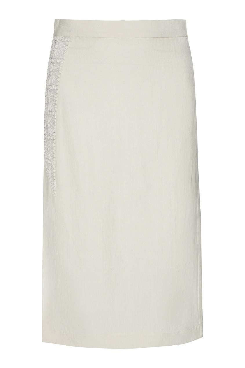 Однотонная юбка-карандаш