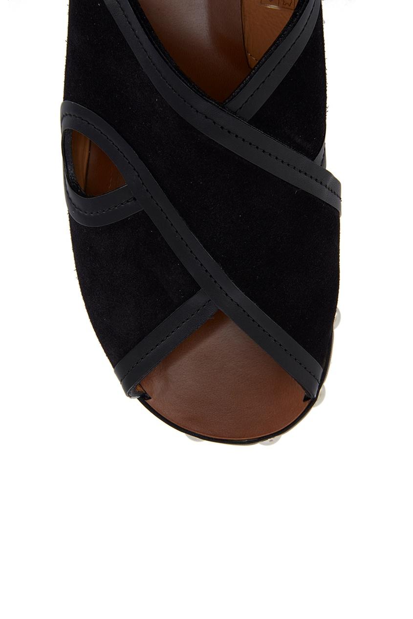 Замшевые сандалии Zipla
