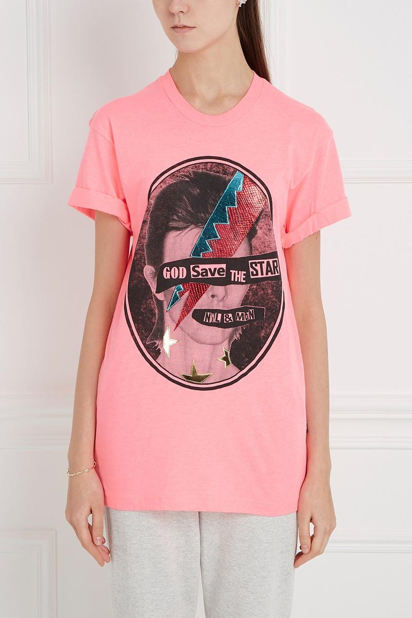 Nil&Mon Хлопковая футболка The Star