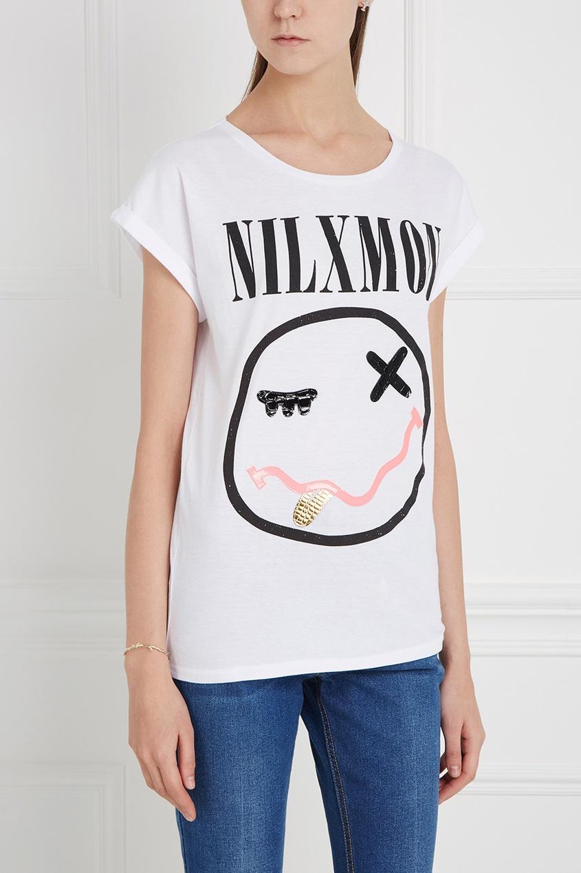 Nil&Mon Хлопковая футболка Nil X Mon