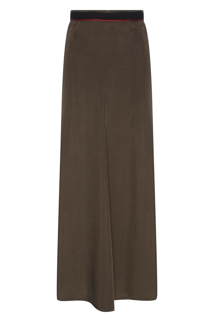 Фактурная юбка с разрезом