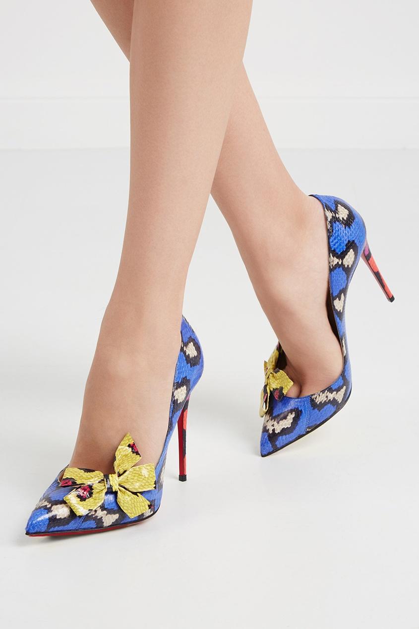 Туфли из кожи змеи Madame Menodo 100