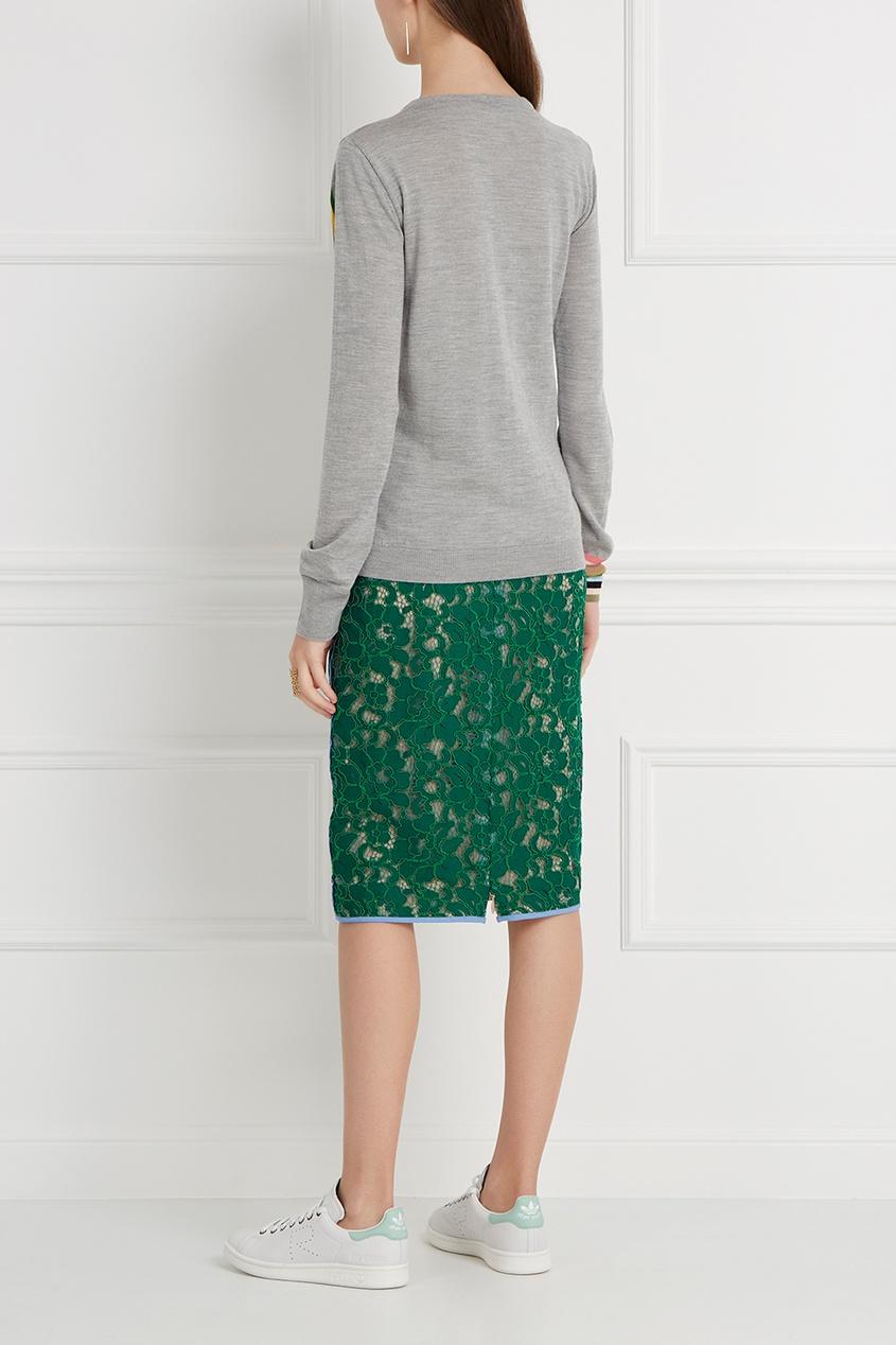 MSGM Кружевная юбка