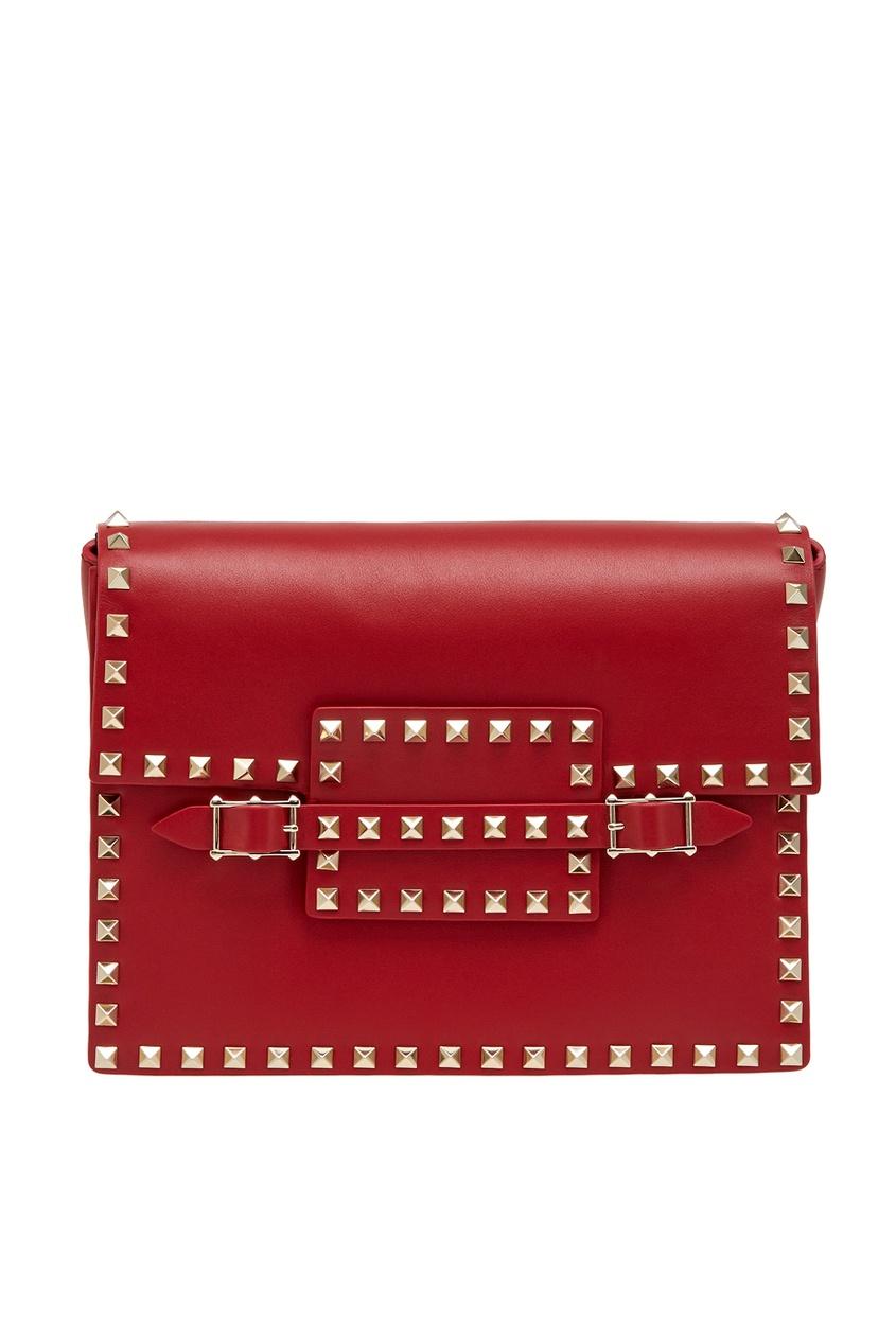 Valentino Кожаная сумка Rosso Rockstud сумка giovanni valentino mtp00131699 valentino c rockee