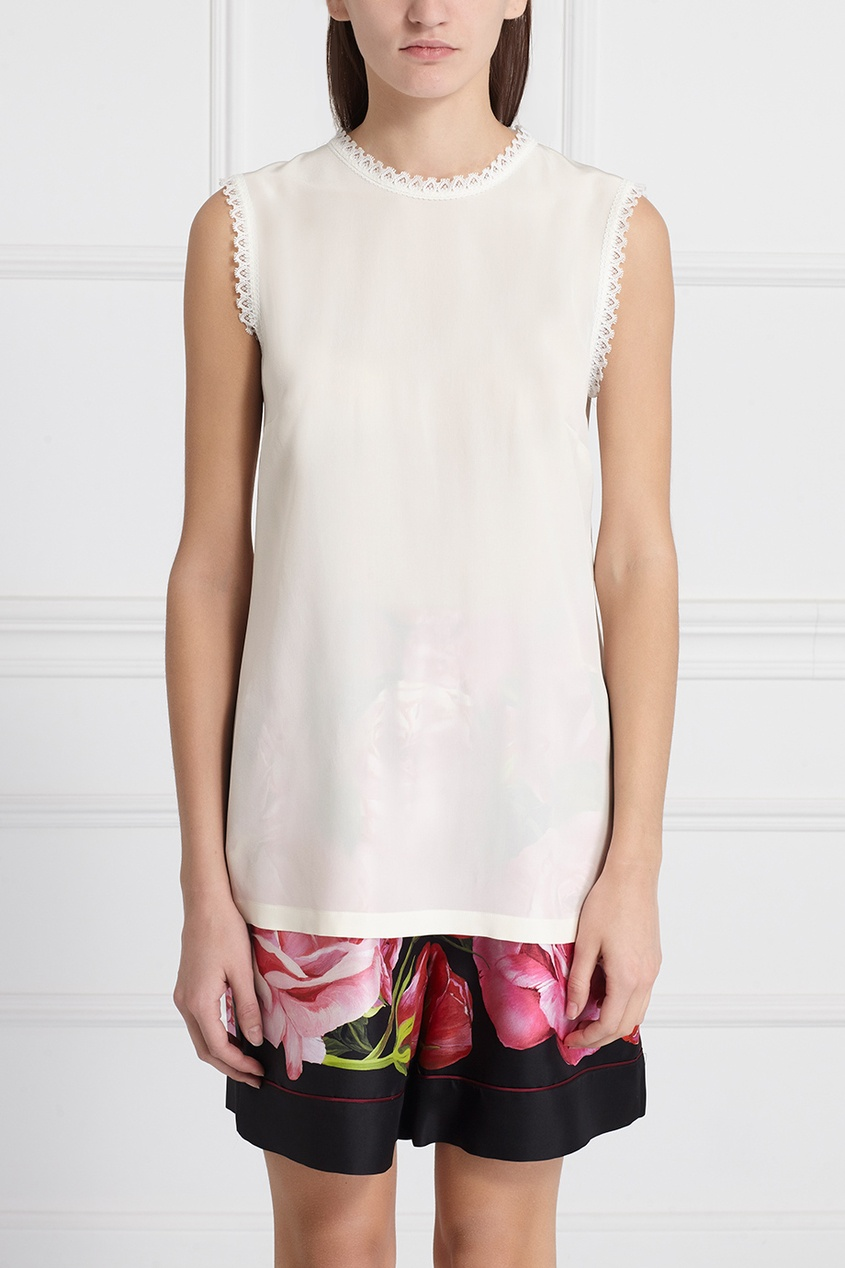 Dolce&Gabbana Шелковый топ