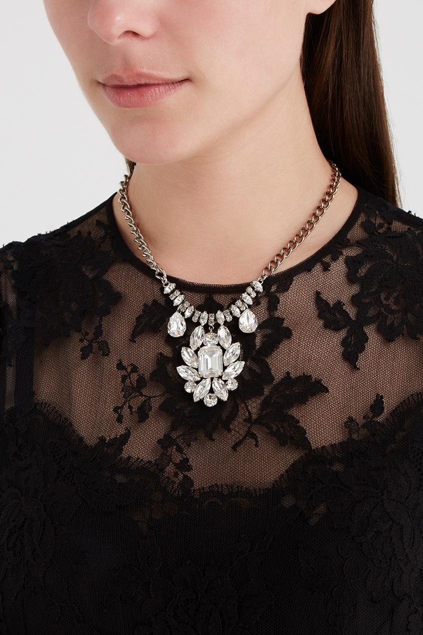 Dolce&Gabbana Колье с кристаллами