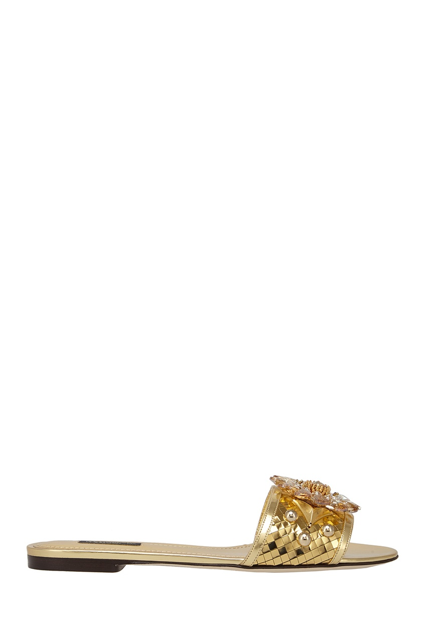 Сандалии с кристаллами