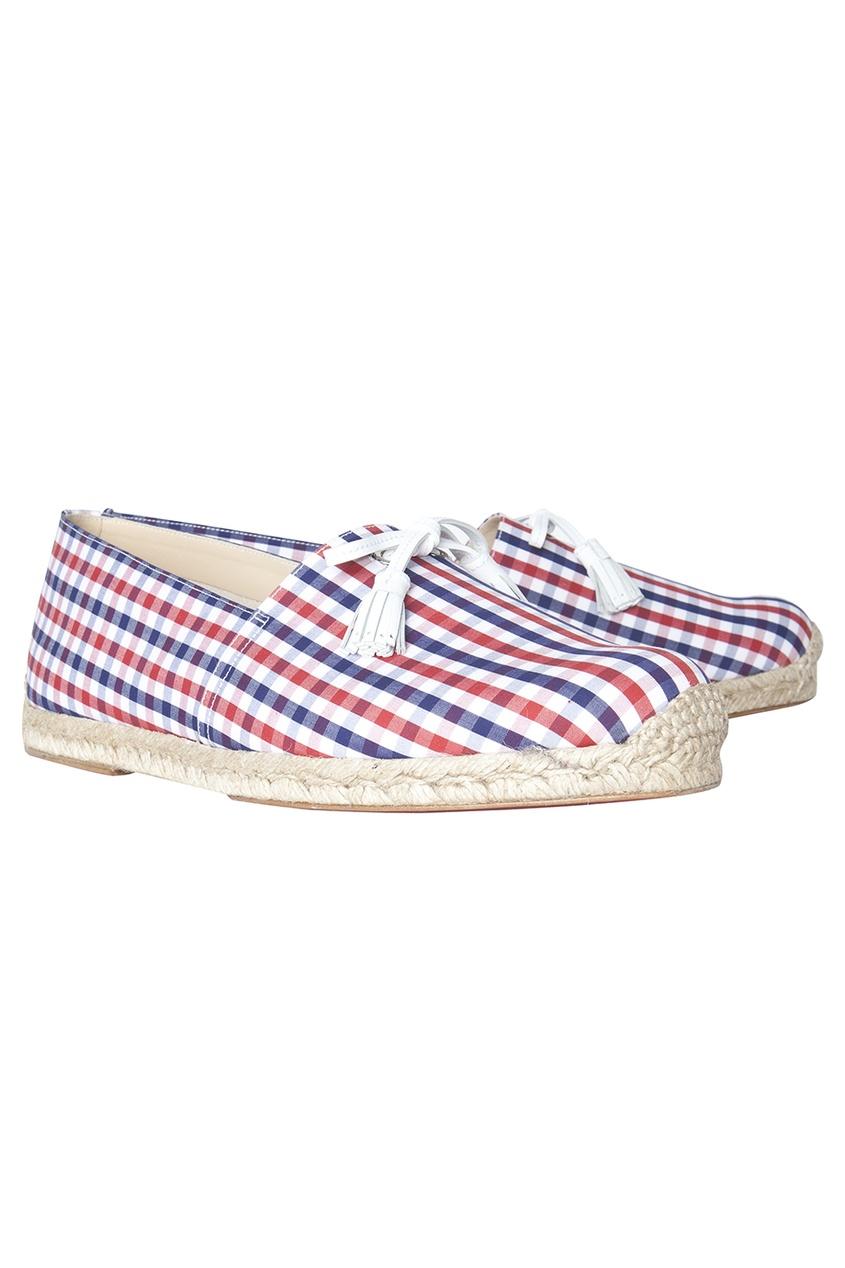 Хлопковые туфли Papiounet Flat Vichy