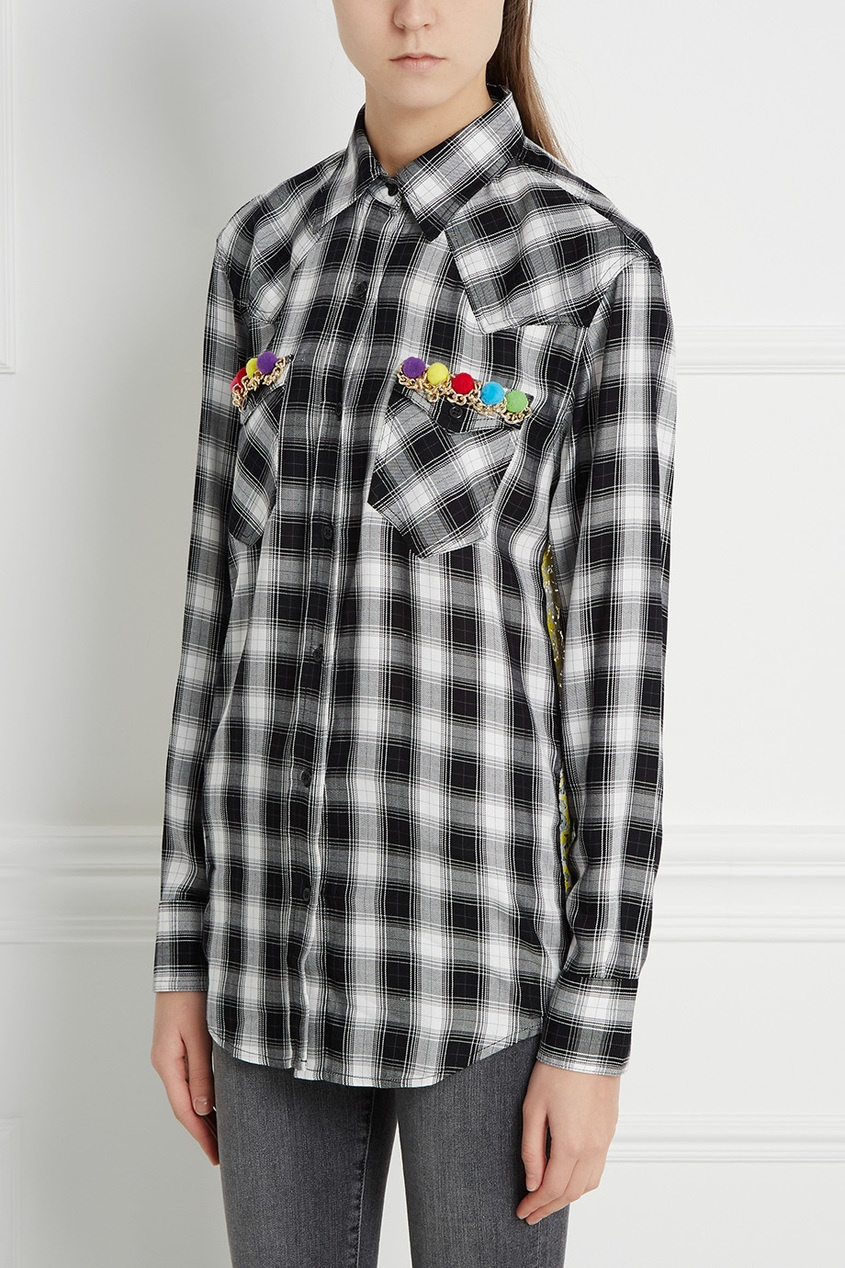 Forte Couture Рубашка в клетку Thelma Pon Pon