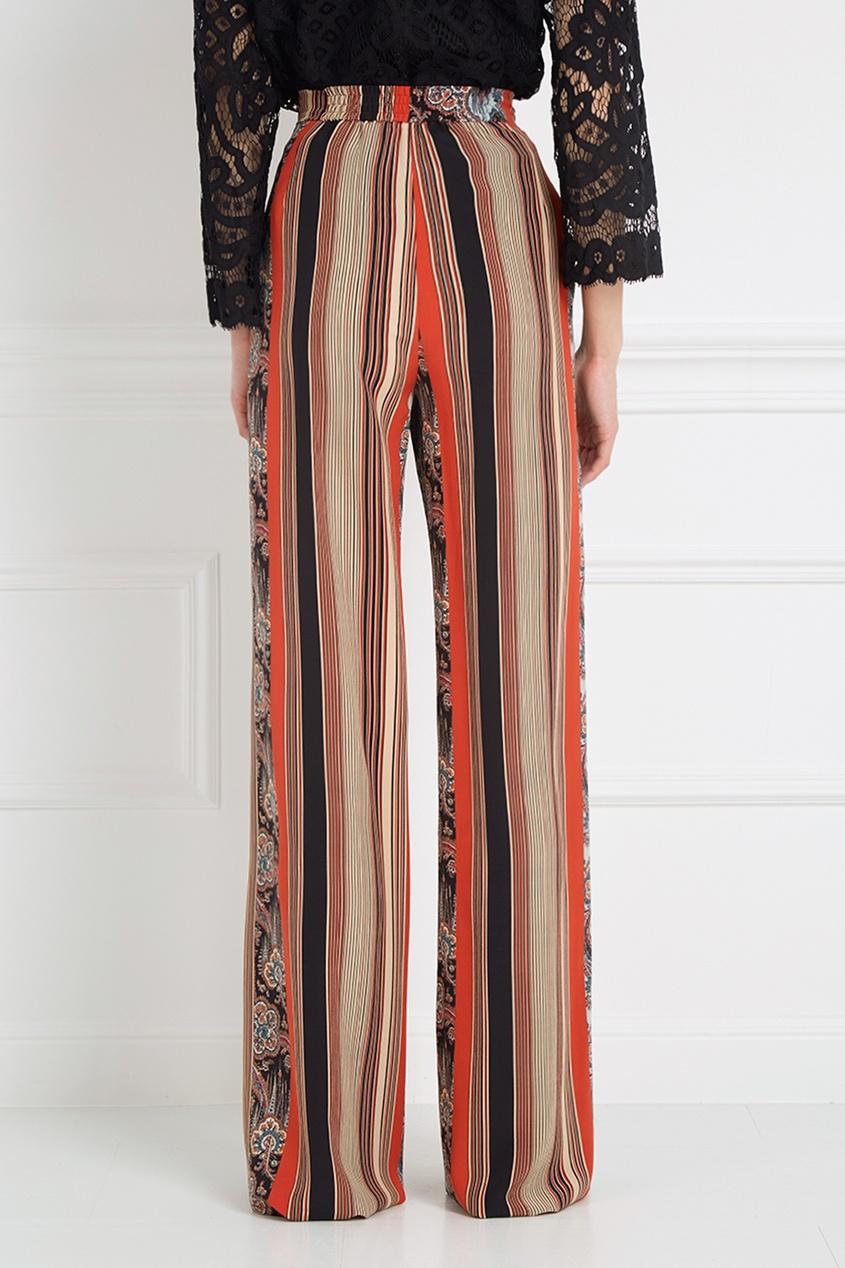 Etro Комбинированные шелковые брюки