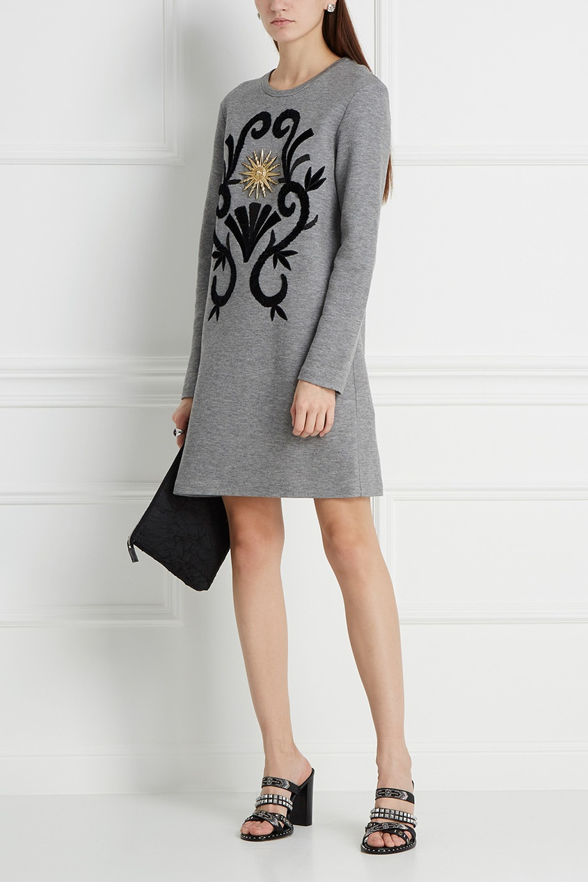 Fausto Puglisi Платье-свитшот с вышивкой