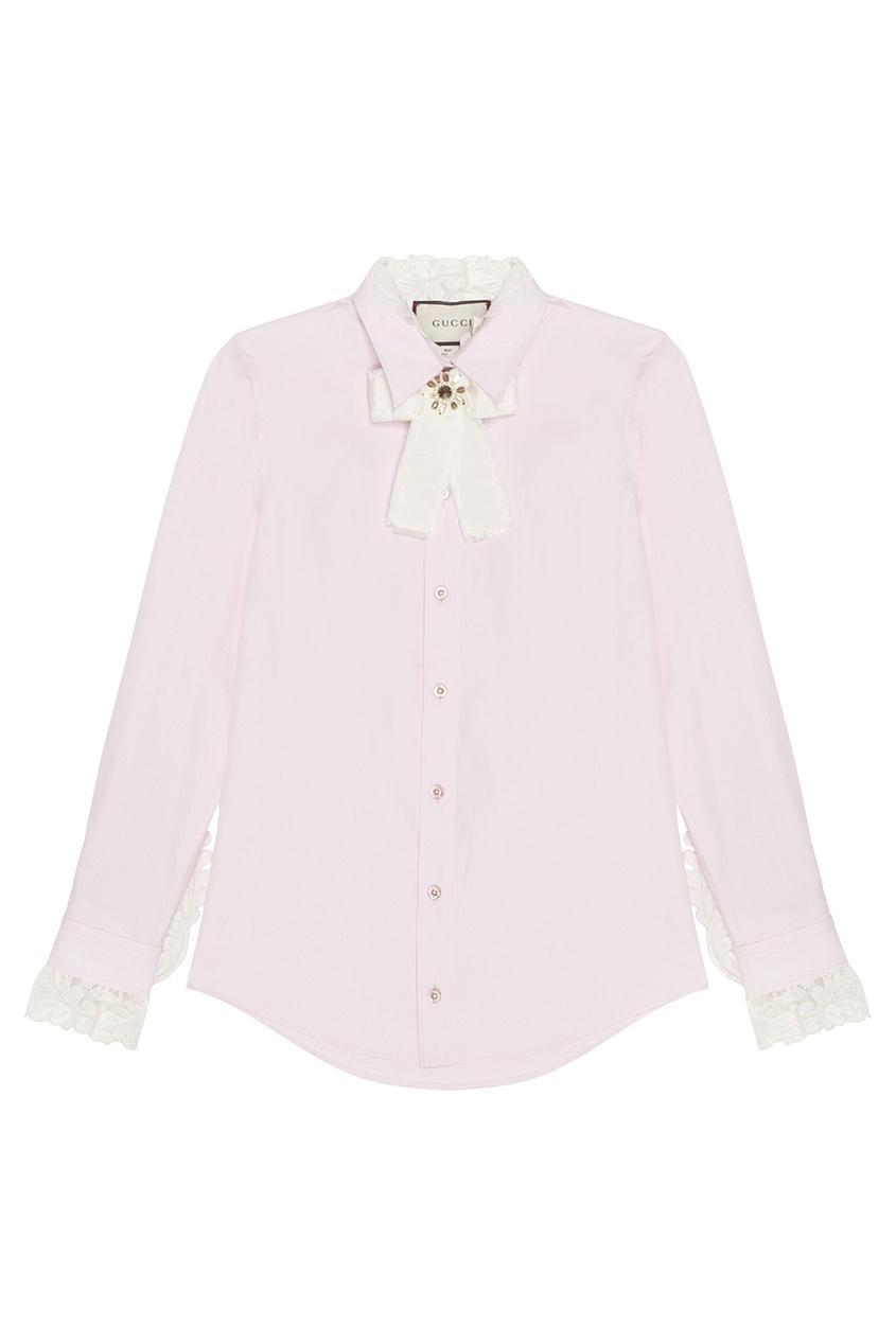Хлопковая блузка от Gucci