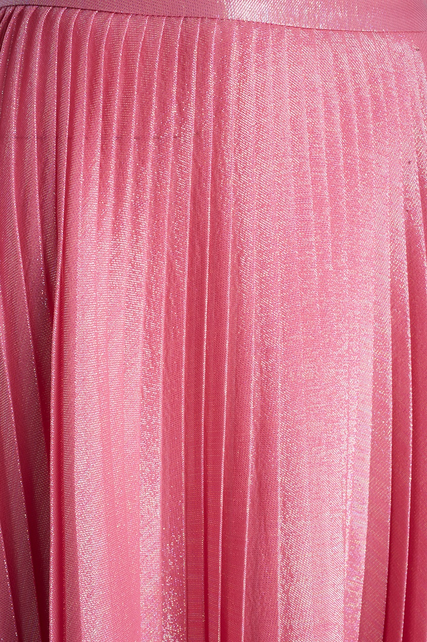 Шелковая юбка с люрексом