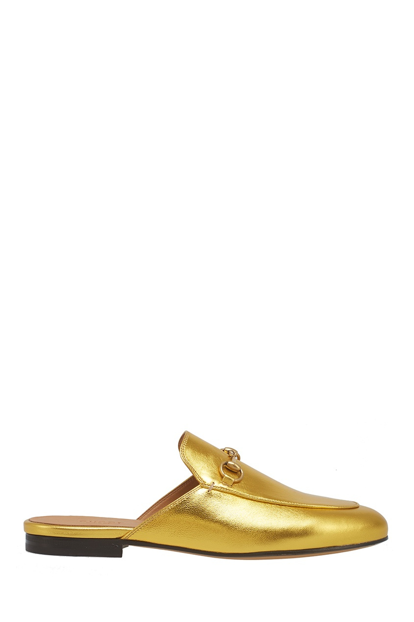 Gucci Слиперы из металлизированной кожи