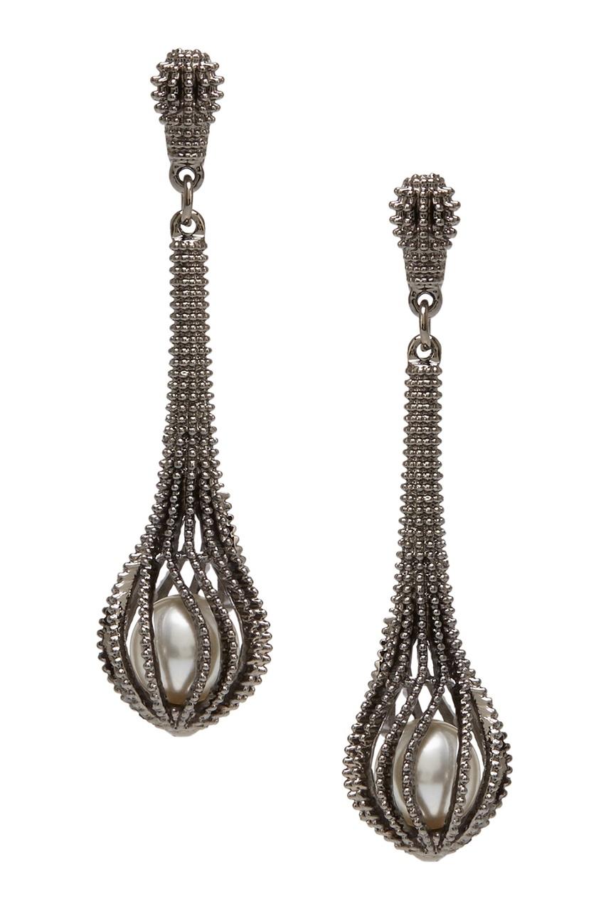 Herald Percy Серьги с жемчугом серьги herald percy асимметричные серьги цветочной формы