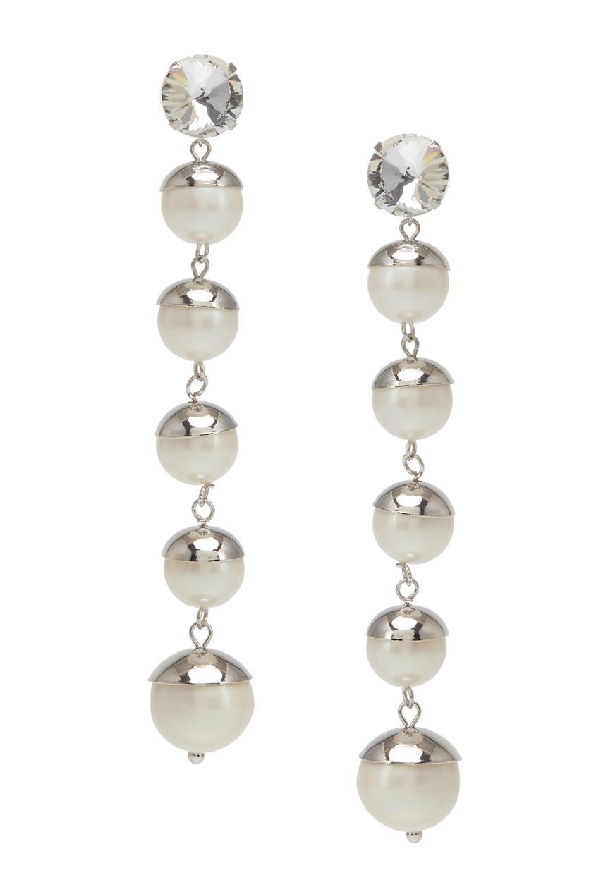 Herald Percy Серьги с кристаллами серьги herald percy асимметричные серьги цветочной формы