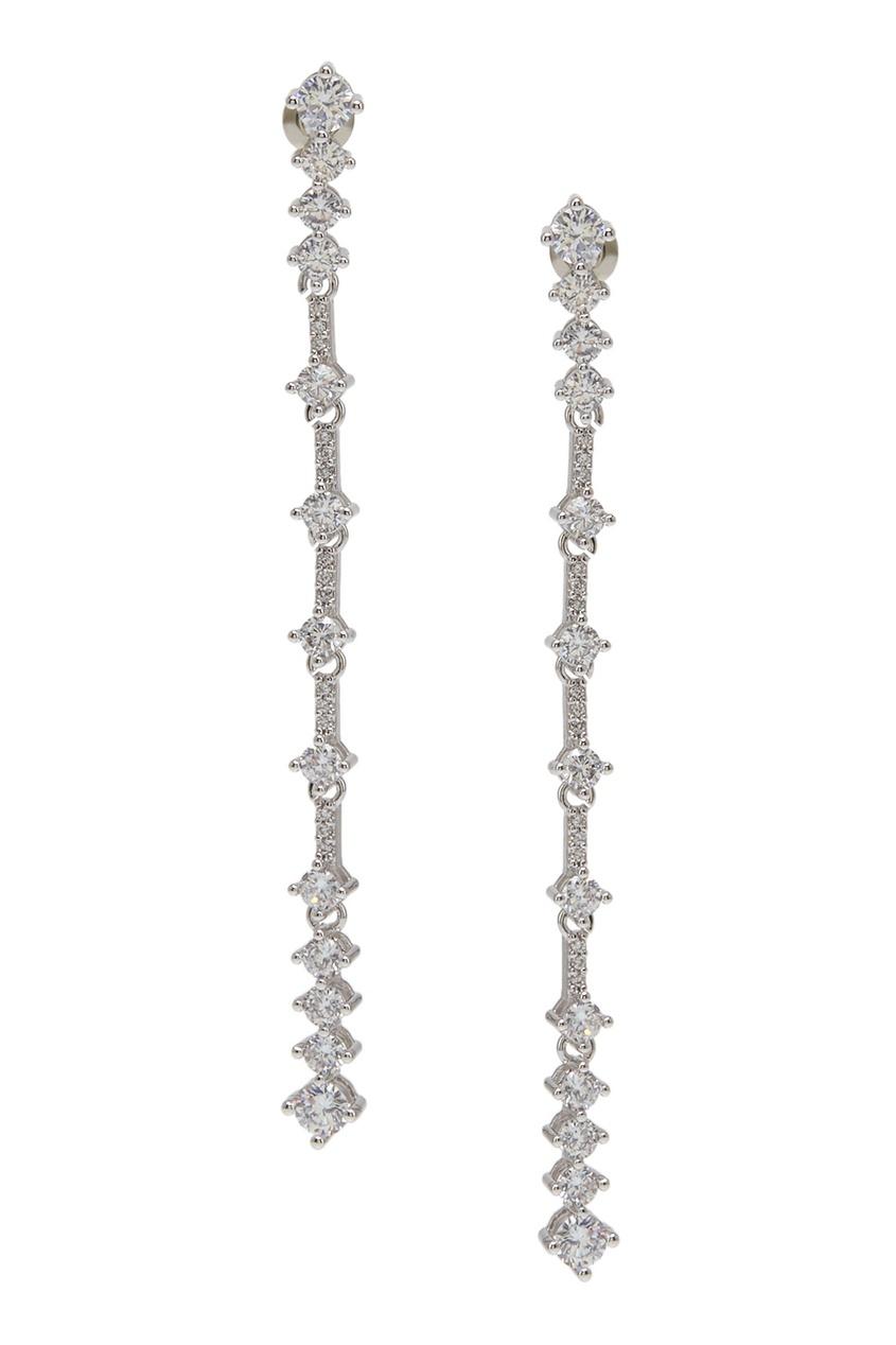 Herald Percy Серьги с кристаллами серьги магазин браслетов серьги кисточки chic tassel blue с лазуритом и шелковой кисточкой
