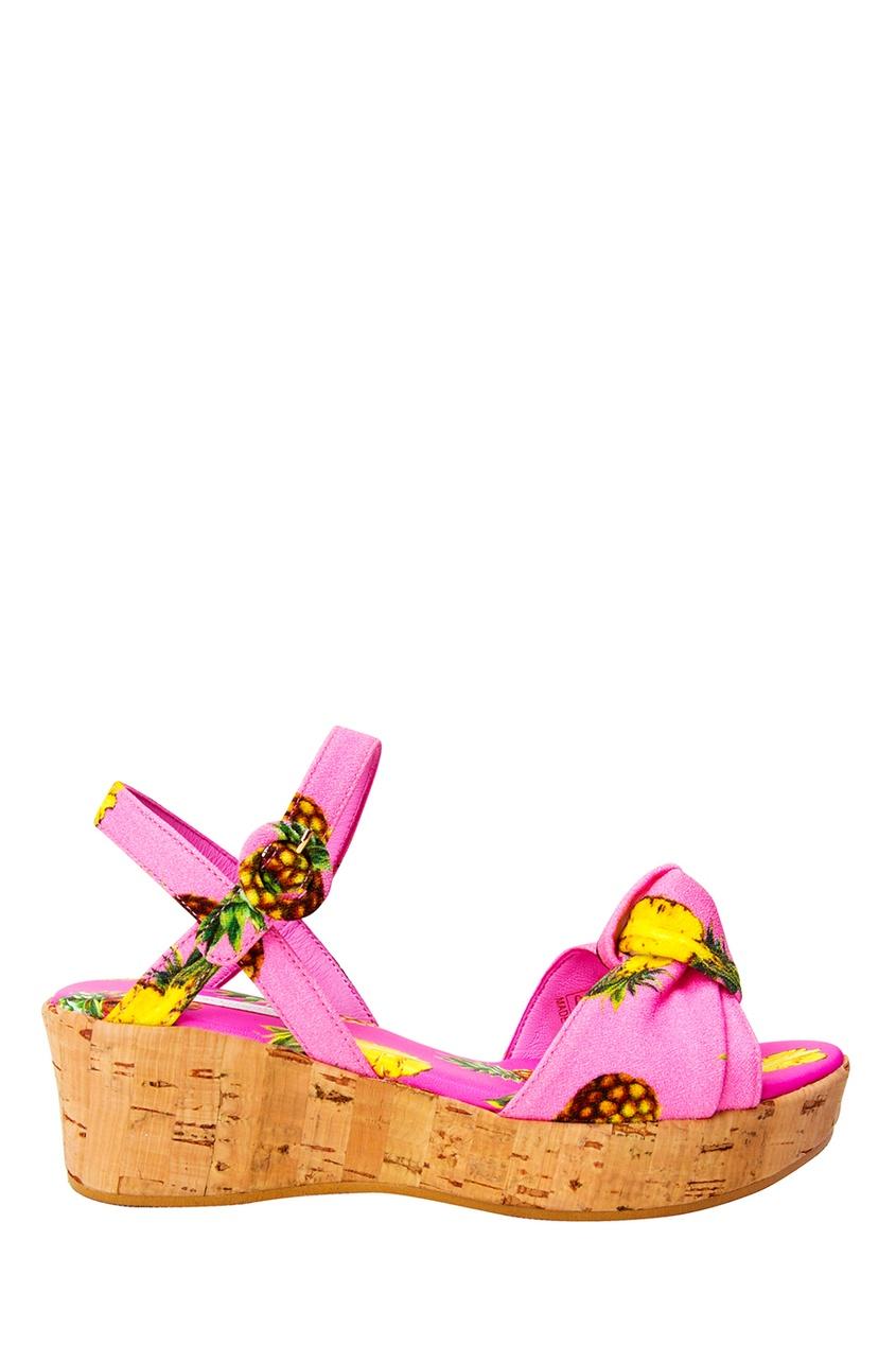 Dolce&Gabbana Children Босоножки на пробковой платформе цены онлайн