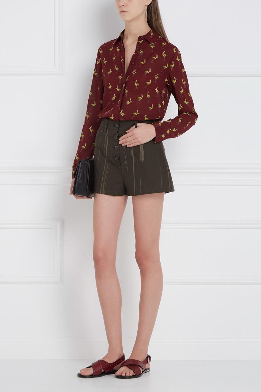Alice + Olivia Шелковая блузка alice olivia шелковая блузка