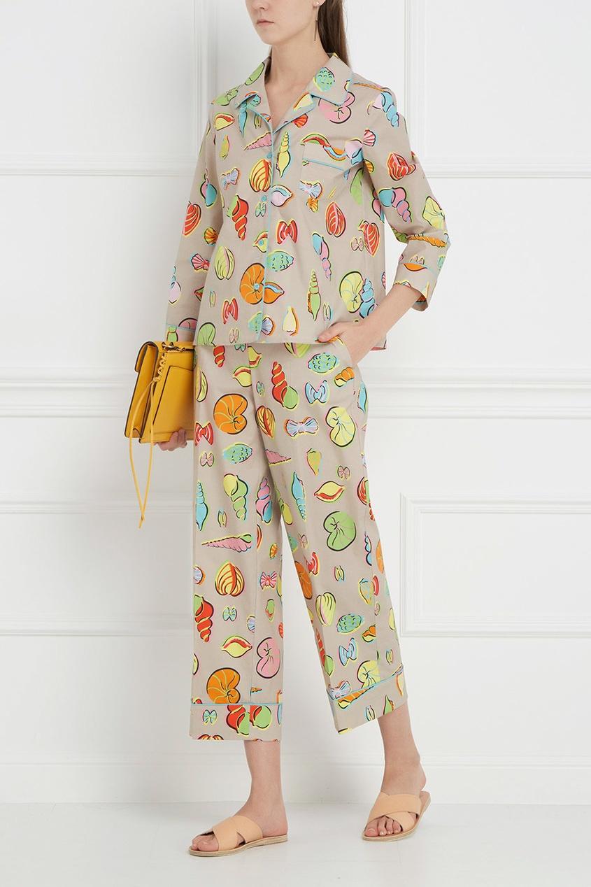 Boutique Moschino Хлопковая блузка
