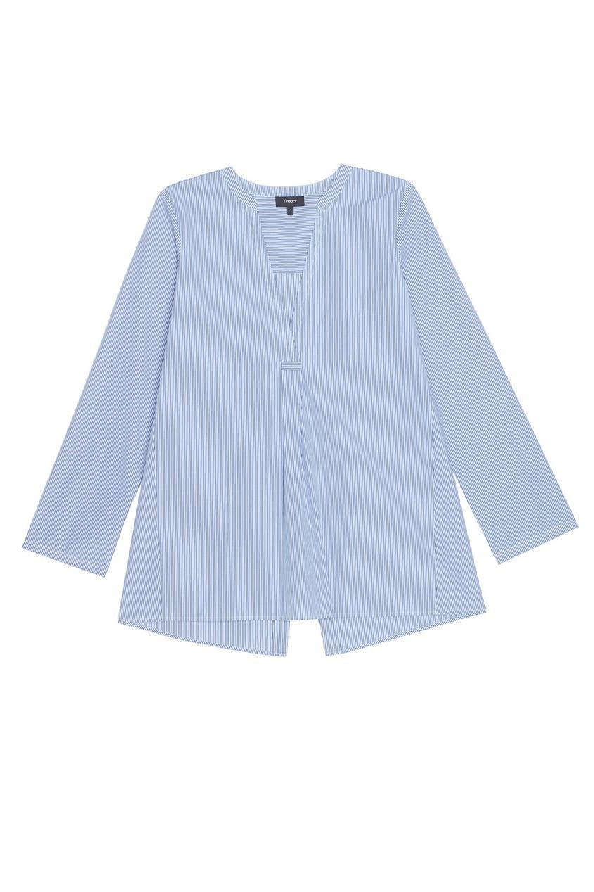 Theory Полосатая блузка А-силуэта theory полосатая блузка а силуэта