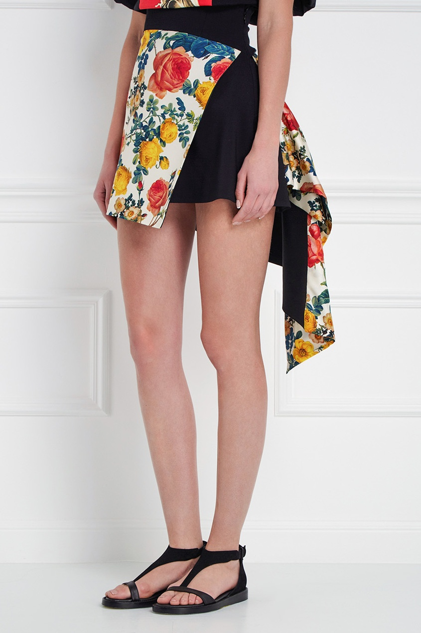 Fausto Puglisi Асимметричная юбка с принтом