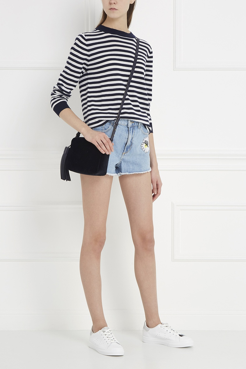 Chiara Ferragni Джинсовые шорты с аппликациями ostin джинсовые шорты с декоративной стиркой