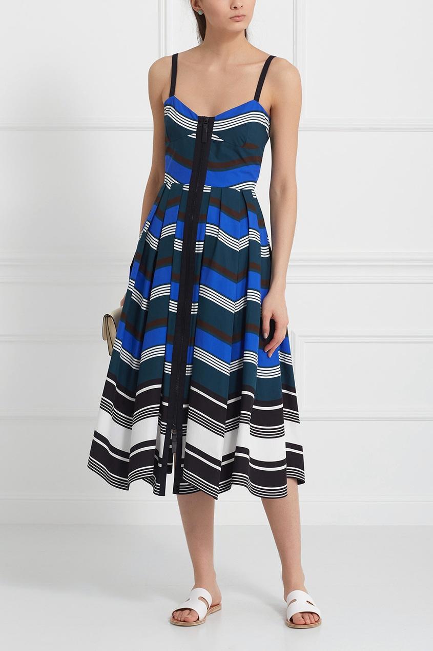 Fendi Платье из хлопка и шелка