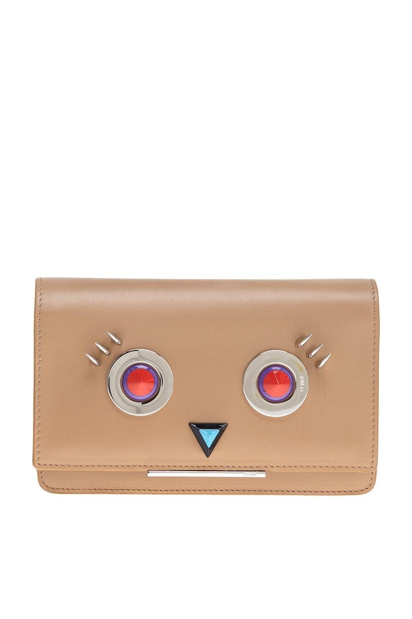 Fendi Кожаная сумка сумка fendi 7va347