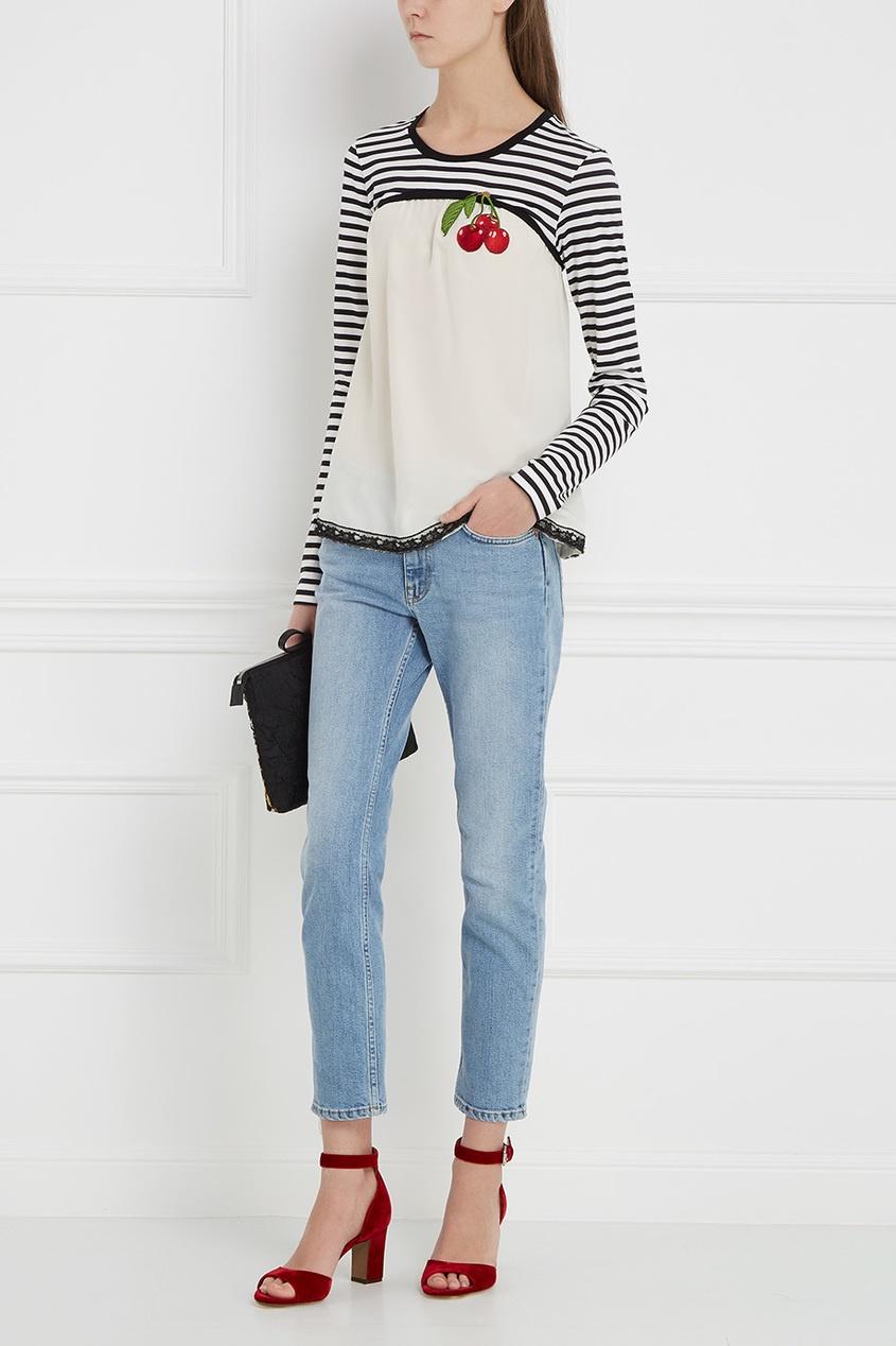 Блузка из шелка и хлопка