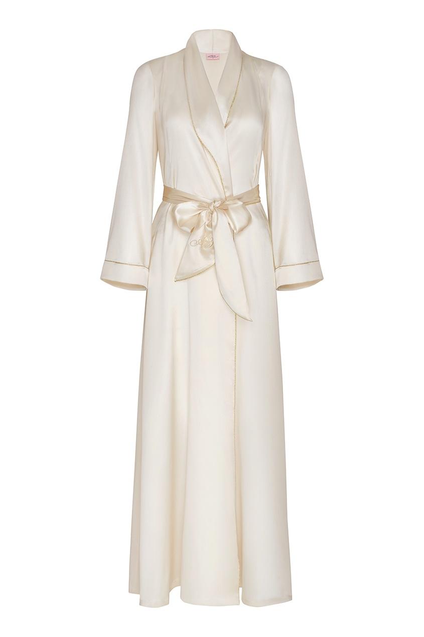 Agent Provocateur Халат Classic Dressing Gown Long белый agent provocateur перчатки long satin