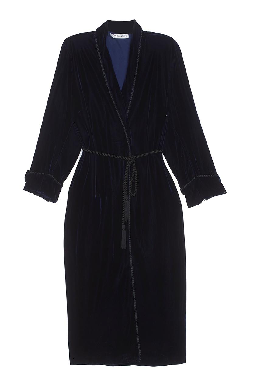 Платье-халат из велюра (1990-е)