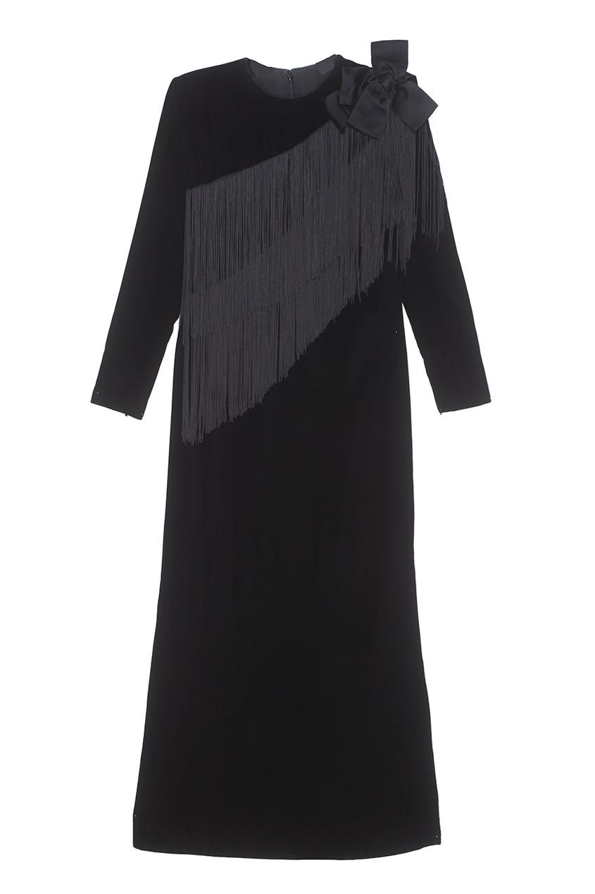 Винтажное бархатное платье