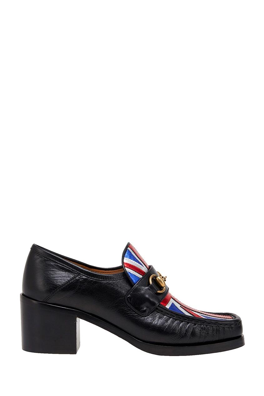 Кожаные туфли Union Jack Horsebit