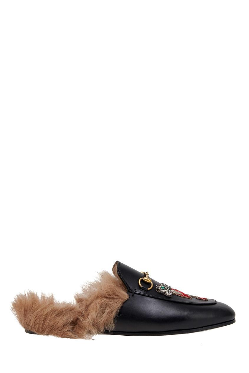 Gucci Комбинированные слиперы Princetown слиперы renaissance слиперы