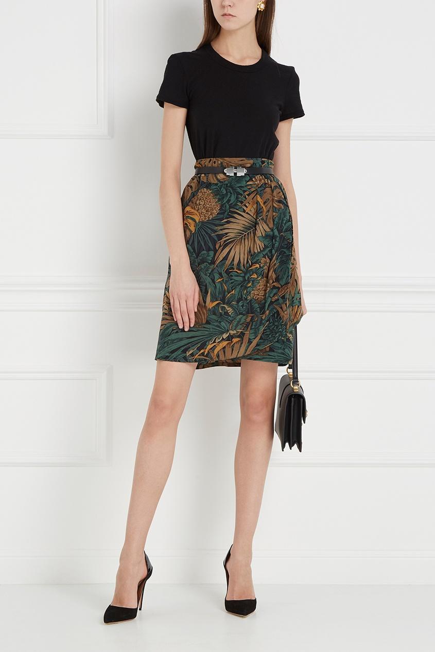цена  Ellen Tracy Vintage Шелковая юбка  онлайн в 2017 году