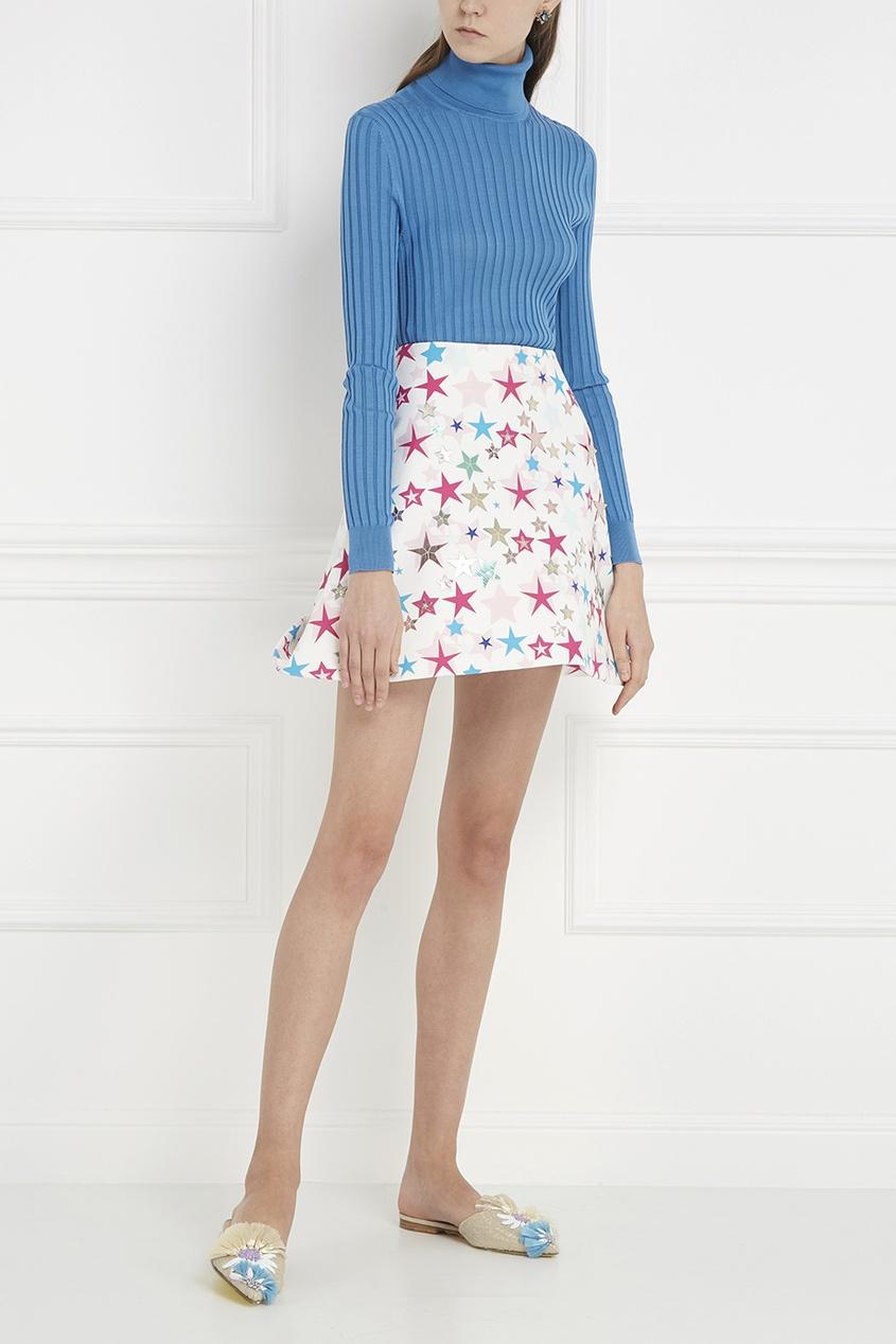 delpozo юбка из хлопка и шелка Delpozo Хлопковая юбка