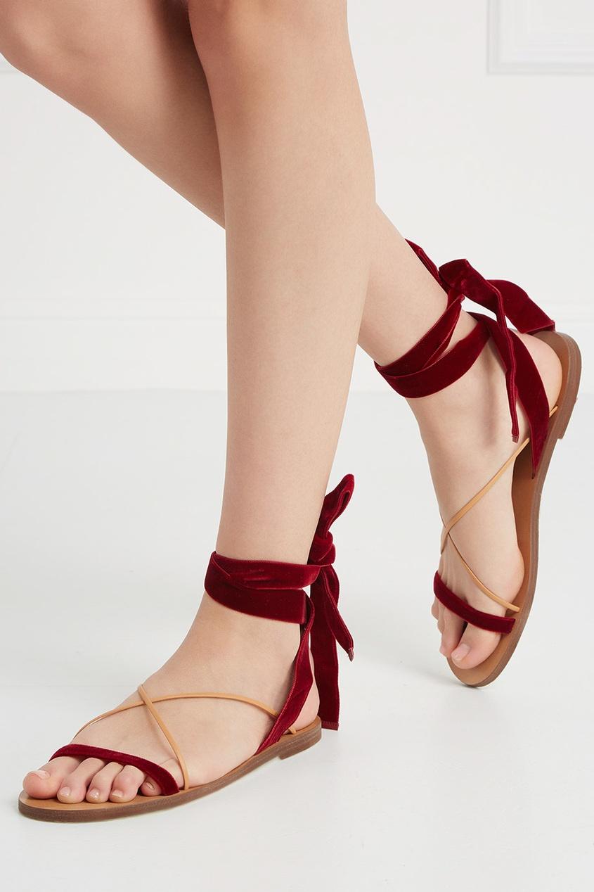 Бархатные сандалии