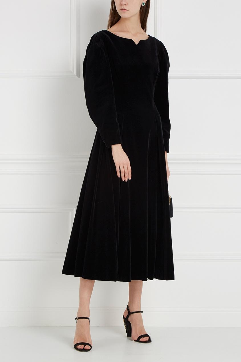 Бархатное платье с кружевом (1980-90-е)