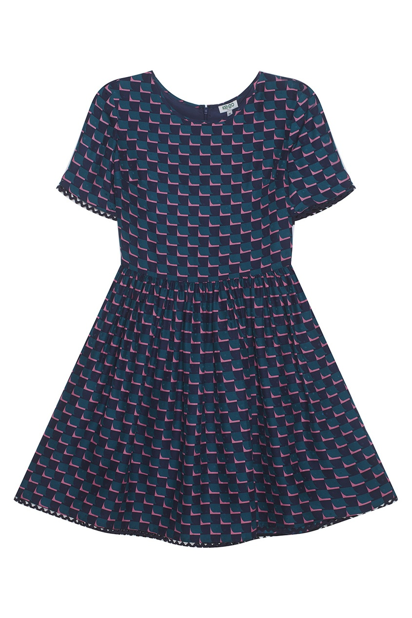 KENZO Шелковое платье kenzo короткая юбка с принтом