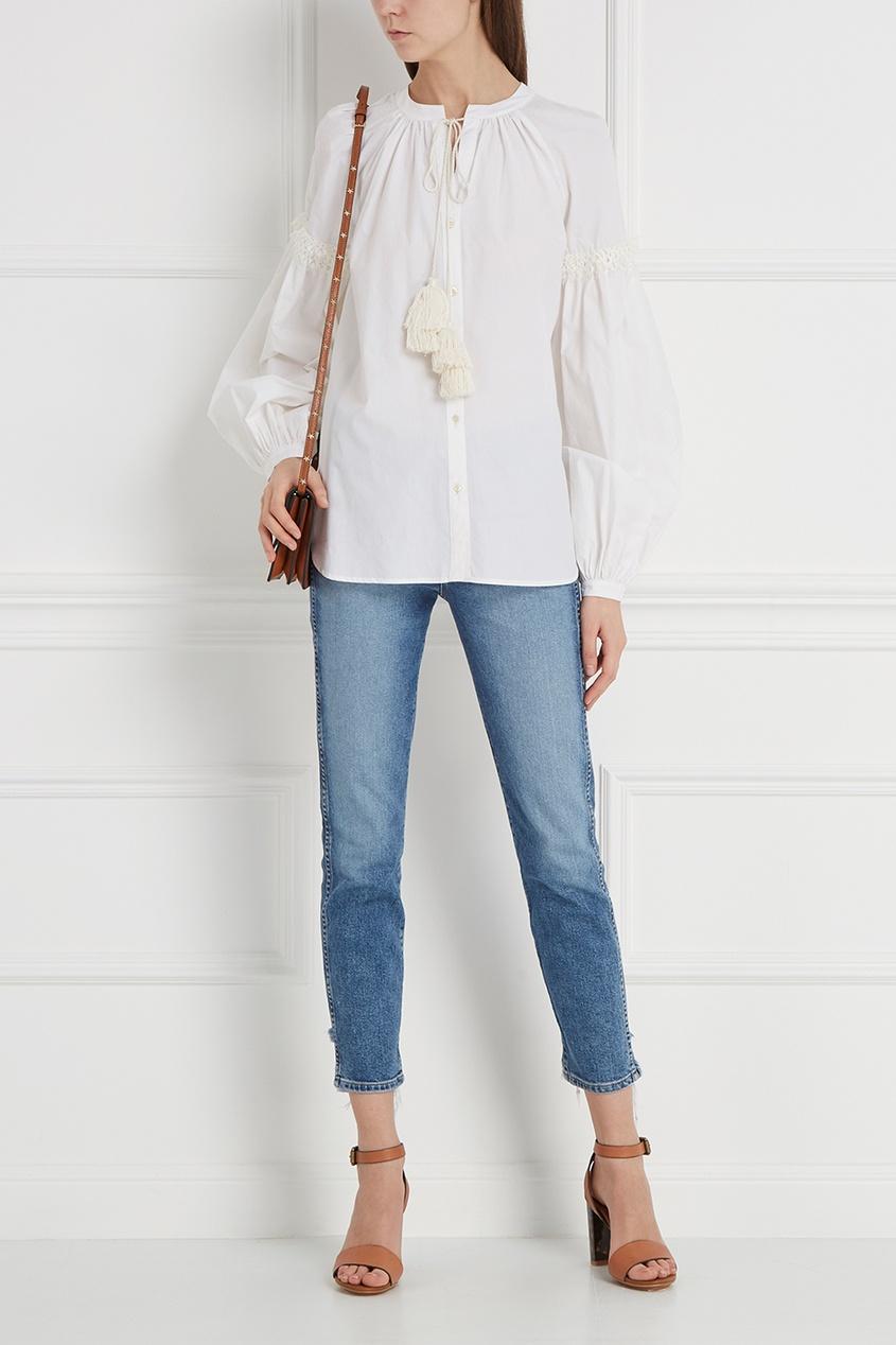 Блузка с кистями