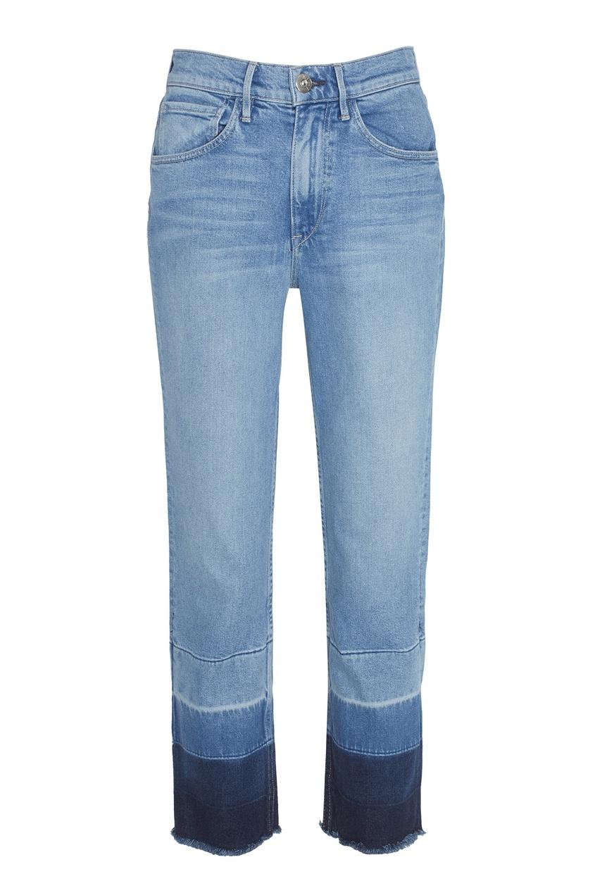 3х1 Укороченные джинсы с цветными вставками