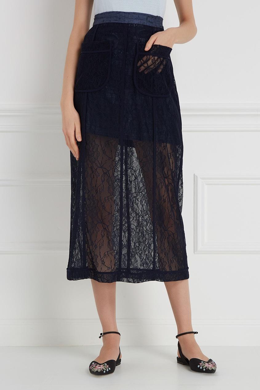 LAROOM Комбинированная юбка laroom пальто в клетку