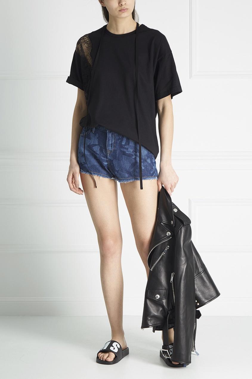 Vivienne Westwood Anglomania Джинсовые мини-шорты ostin джинсовые шорты с декоративной стиркой