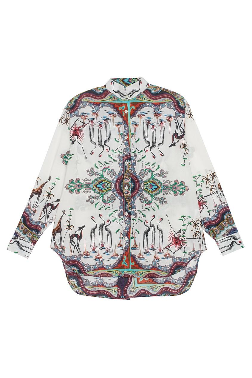 Etro Хлопковая блузка украшения в стиле шурук