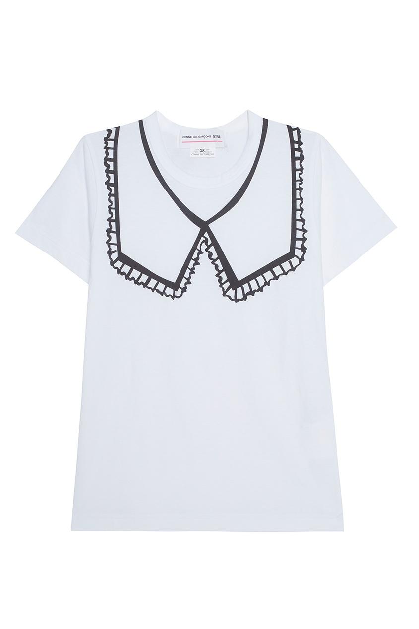 Comme Des Garcons Girl Хлопковая футболка