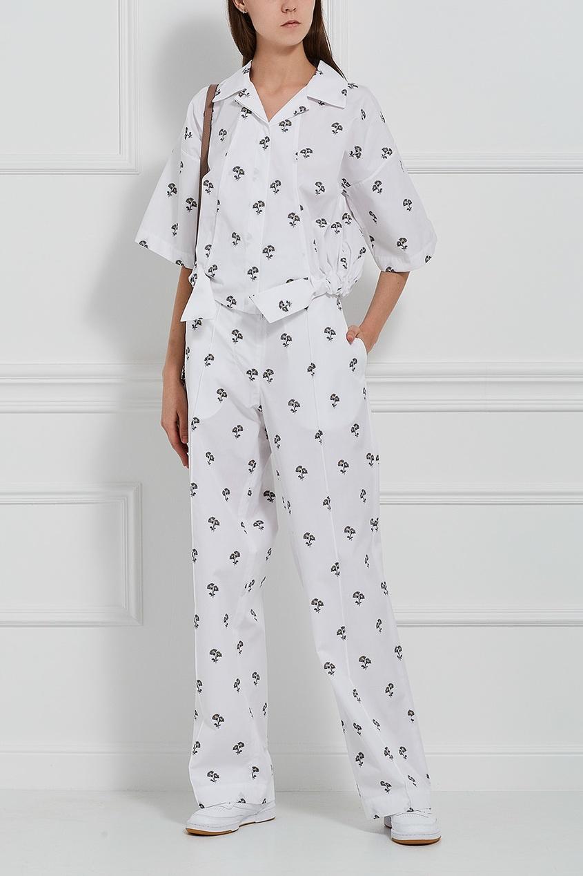 Victoria Beckham Хлопковые брюки