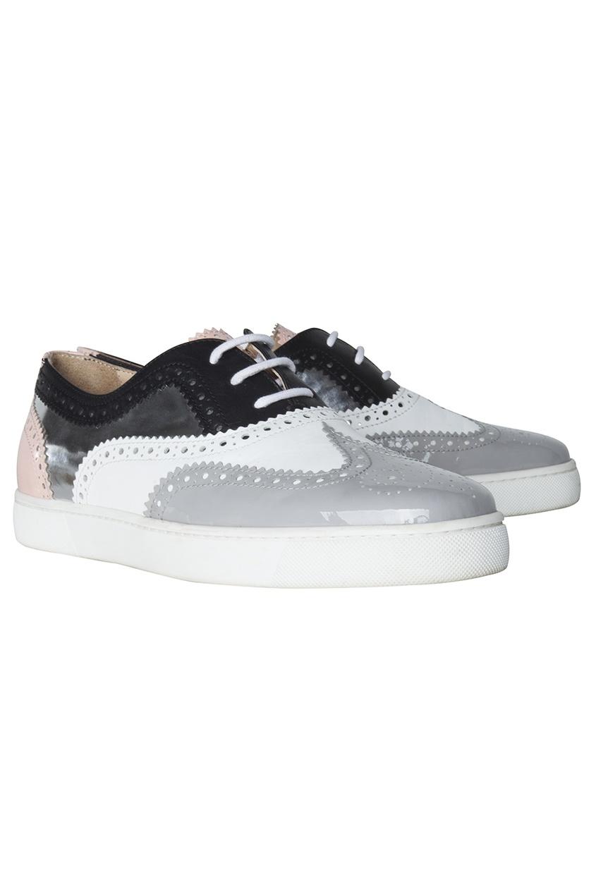 Кожаные ботинки Golfito Flat Patent/Calf/Specchio
