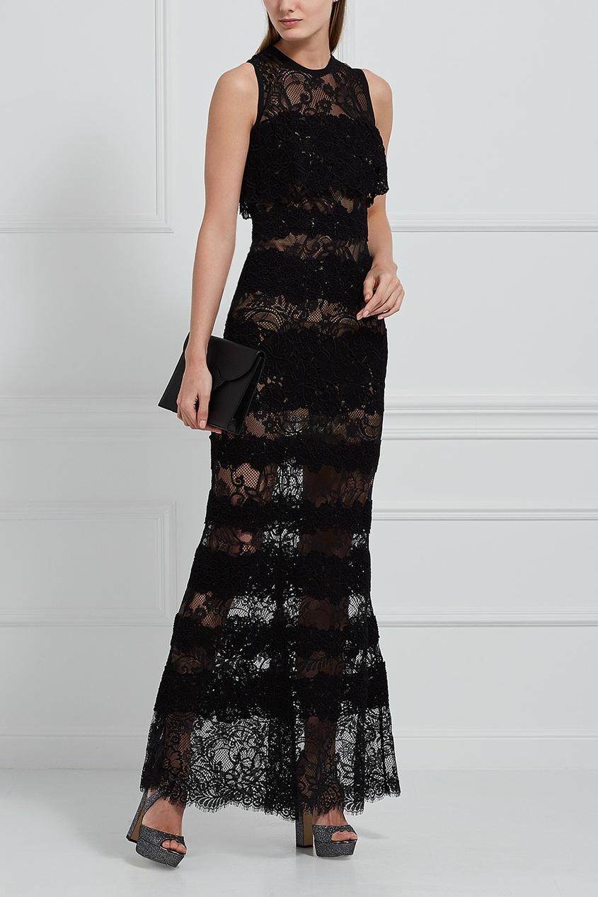 Elie Saab Кружевное платье