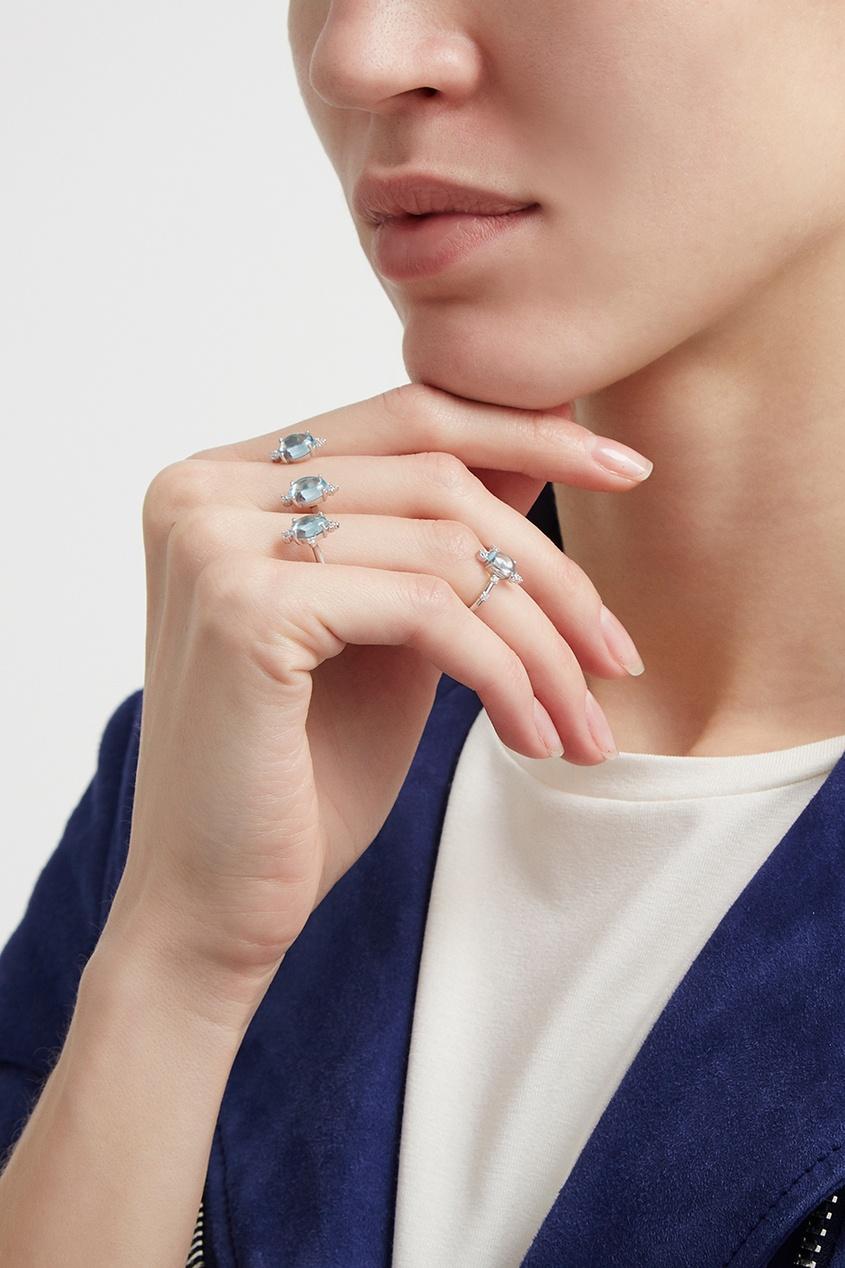 Moonka Studio Серебряное кольцо с топазом